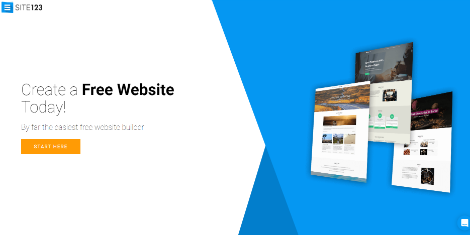 Site123 homepage best website builders for beginners