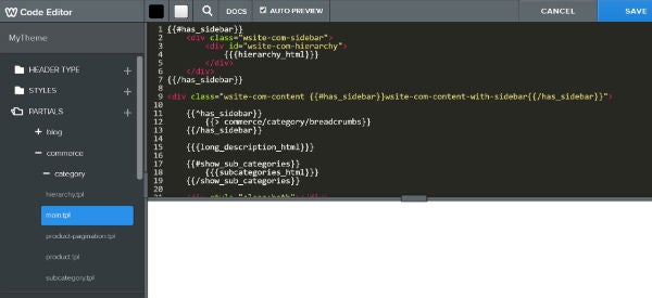 Weebly website builder coding