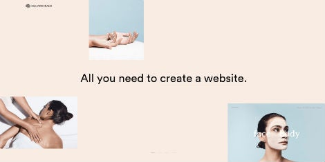 Squarespace website builder homepage