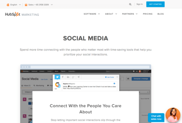 hubspot social media management tools