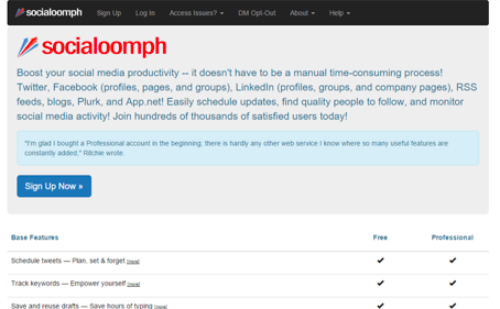 socialoomph social media management tools