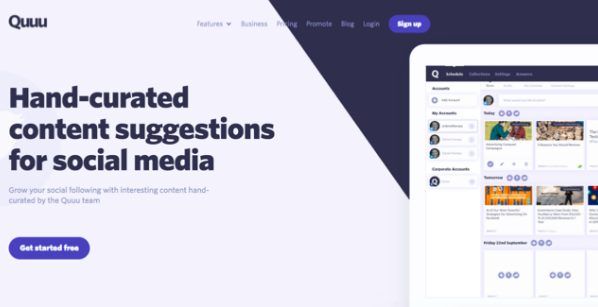 quuu social media management tools