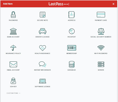 lastpass options screen