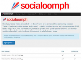 socialoomph social media management tool