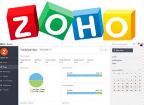 zoho social media management tool