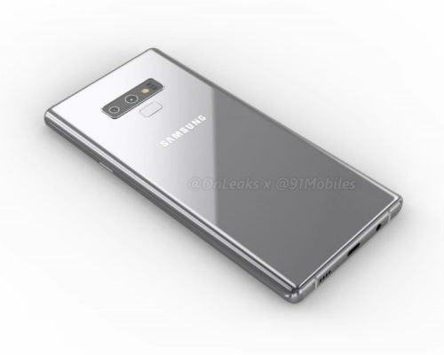 Samsung Note 9 renders dual cameras