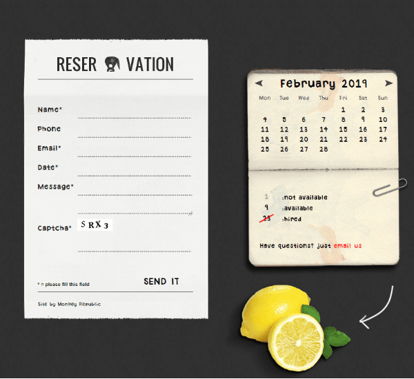 Skeuomorphic Website Design Example