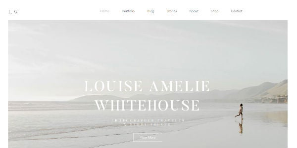Example of a travel blog made with Wix