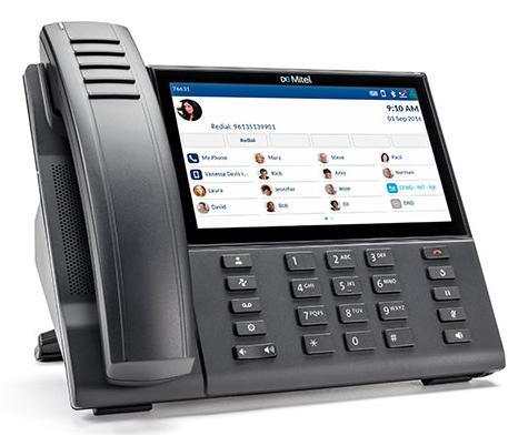 A Mitel phone