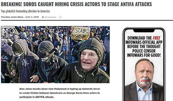 Infowars ban George Soros