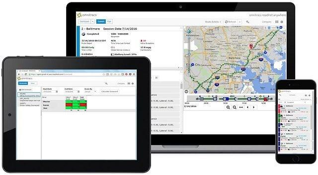 Omnitracs Fleet Tracking on Tablet, Desktop and Mobile