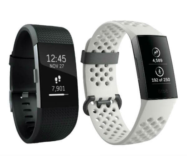 Fitbit Charge 3 compared with Fitbit Charge 2