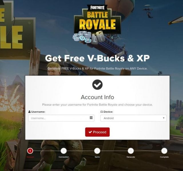 Fortnite scam - tech.co