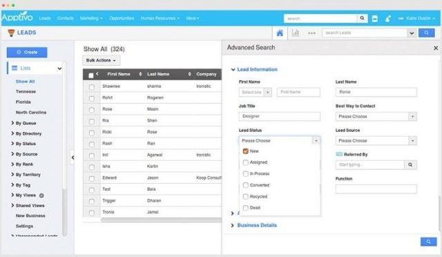 Apptivo CRM makes a custom report