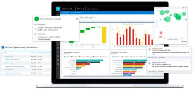 Microsoft Dynamics Dashboard View
