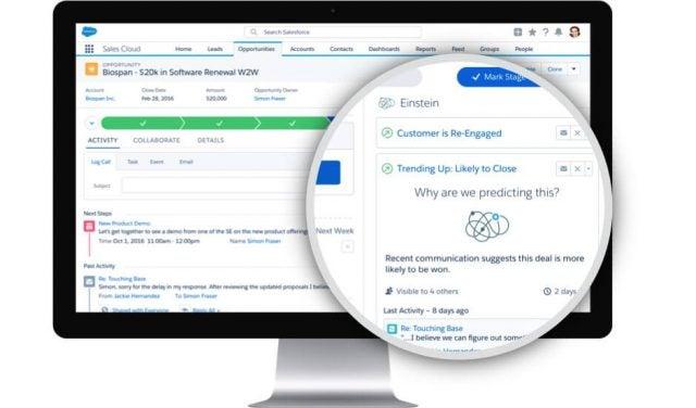Salesforce Sales Cloud Dashboard View