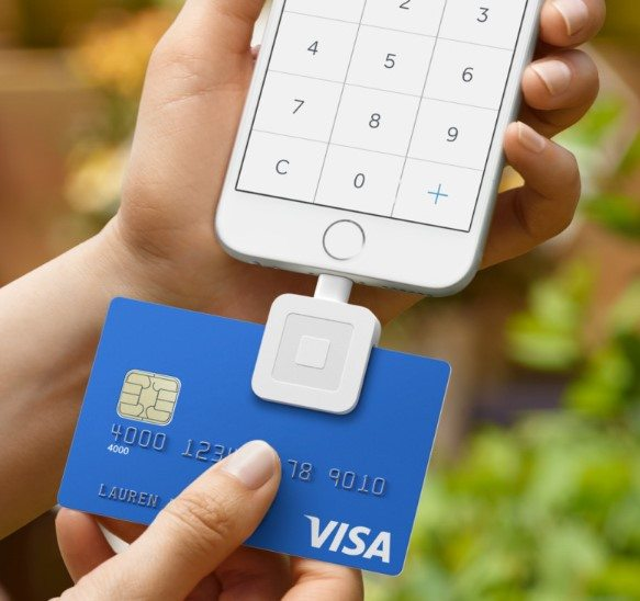 pos system hardware square card reader for iphone