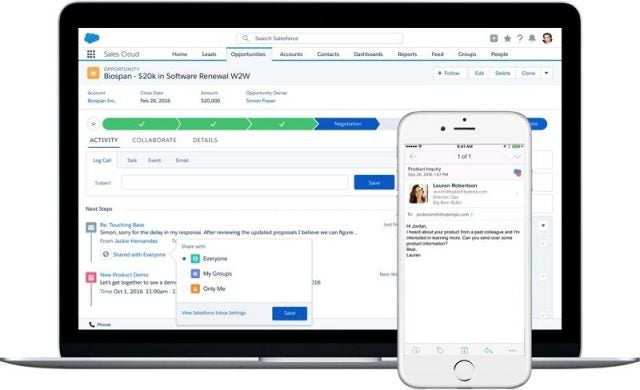 The Sales Cloud Salesforce inbox