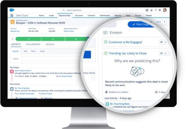 Salesforce Sales Cloud  opening management