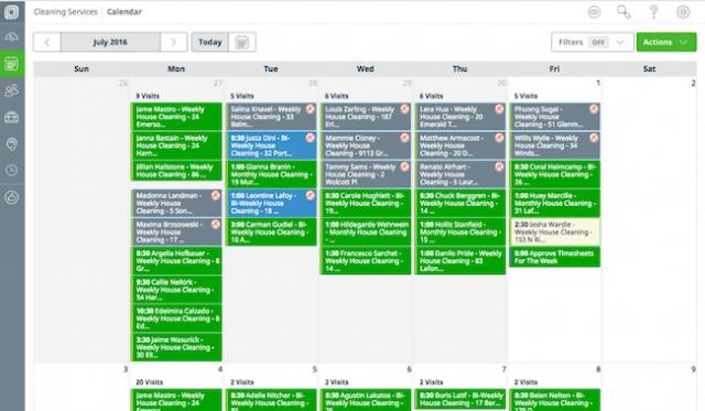 Jobber Scheduling calendar