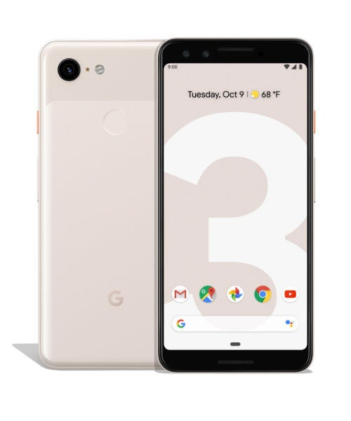 Google Pixel 3 front and back not pink