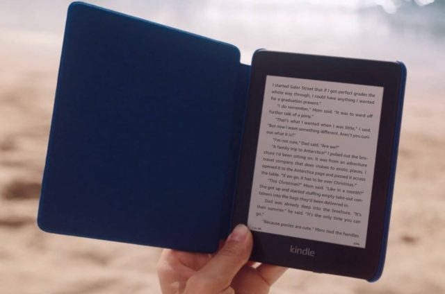 Kindle Paperwhite on beach