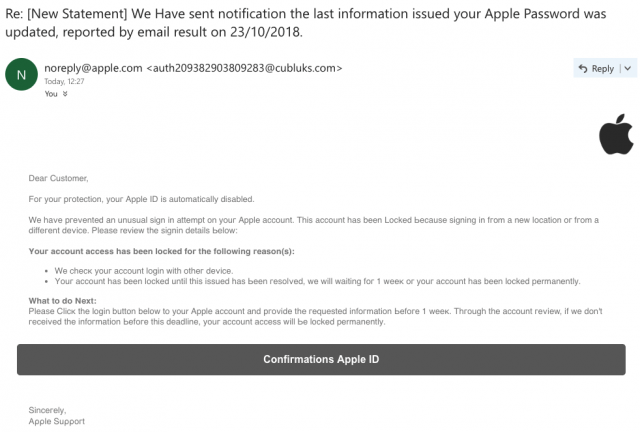 Apple Account Recovery Scam