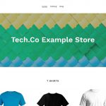 shopify review An example of a Shopify website homepage