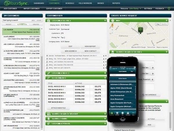 Razorsync field service dispatch software