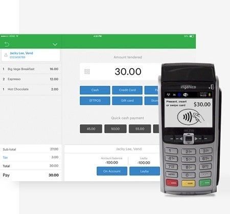 Vend POS sales and payments