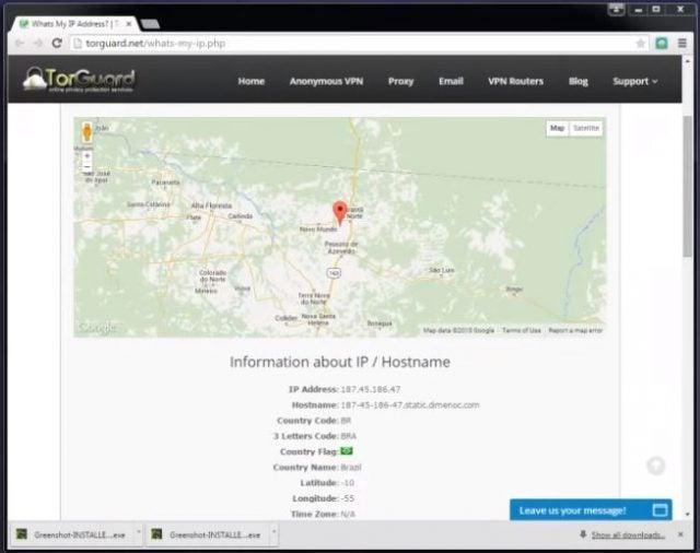 Torguard vpn map