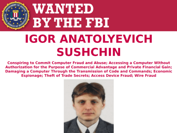 Igor Suschin wanted poster