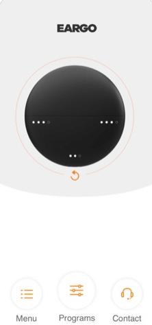 Eargo Mobile App Menu