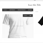 squarespace for ecommerce product page showcasing men's t-shirts