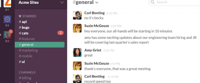 Slack Instant Messaging