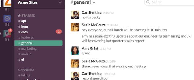 Slack Instant Messaging