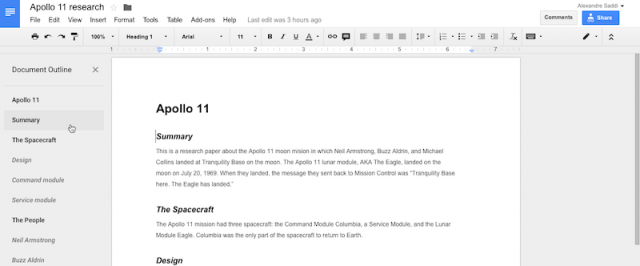 Google Docs Document Sharing