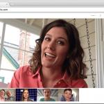 A Google Hangouts video call