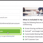 Joining a meeting with FreeConferenceCall.com