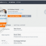 GoToMeeting conference call service meeting history