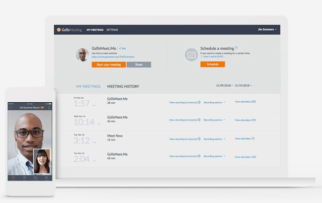 GoToMeeting interface