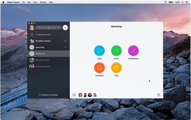 Webex service visuals