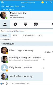 Skype for Business Profile app