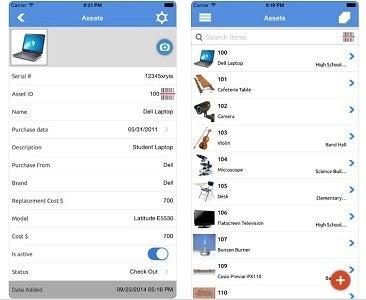 Asset Panda asset tracking mobile app