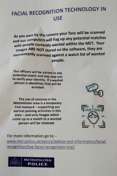 Met Police Facial Recognition Poster Medium