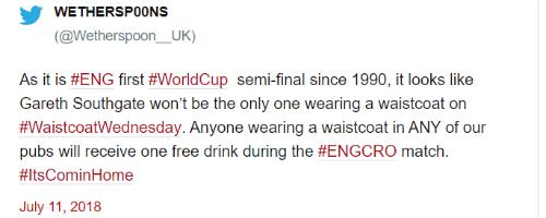 Wetherspoon Parody Waistcoat Tweet