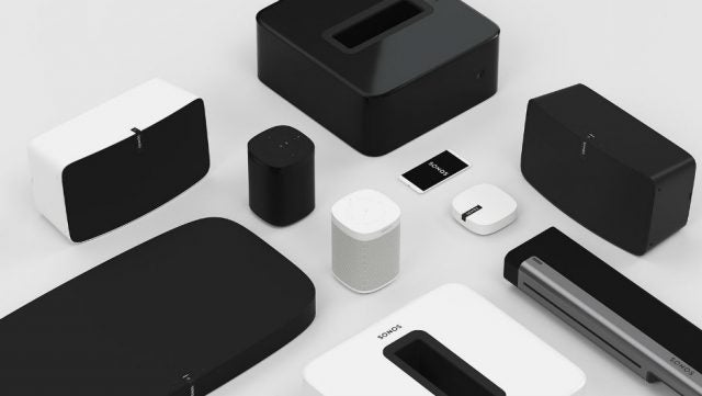 Collection of Best Sonos speakers including Play:1, Sonos One, Play:5 and Sonos Sub medium