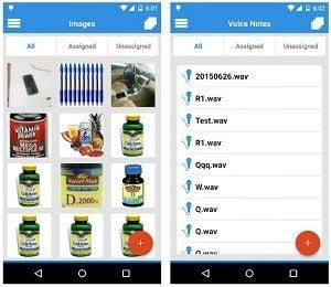 assets on the Asset Panda mobile app