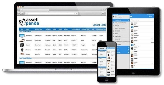 Asset Panda asset tracking application on desktop, mobile and tablet