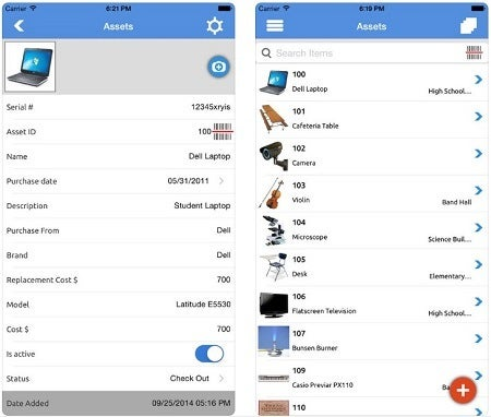 AssetPanda asset tracking mobile app